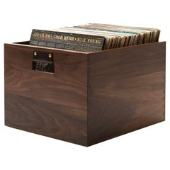 Solid Walnut Dovetail Record Crate