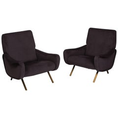 """Marco Zanuso Pair of """"Lady"""" Armchairs"""
