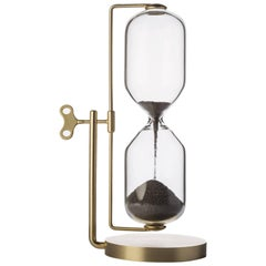 Timeless Brass and Iron Hourglass