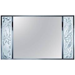 Lalique Clear Crystal Merles et Raisins Wall Mirror