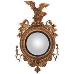 19th Century Regency Giltwood Girandole Mirror