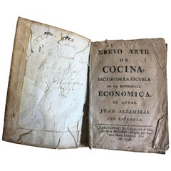 """18th 1st Edition of """"New Art of Cooking"""" in Spanish by Juan Altamiras"""