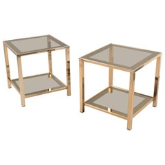 Pair of Side Tables, France, 1970s