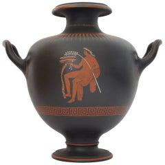 Encaustic Painted Basalt Vase, Wedgwood, circa 1800