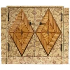 Maitland-Smith Faux Malachite Tabletop Cabinet