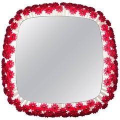 Emil Stejnar Back Lit Red Flower Mirror