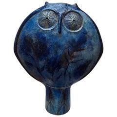Monumental Iconic Owl Sculpture by Master Designer Eva Fritz-Lindner