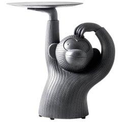 Monkey sidetable in black