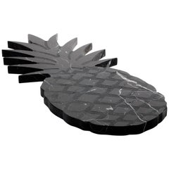 Big Black Marble Cutting Board and Serving Tray with Pineapple Shape