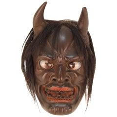 Japanese Edo Period Ike Mask 'Devil Face'