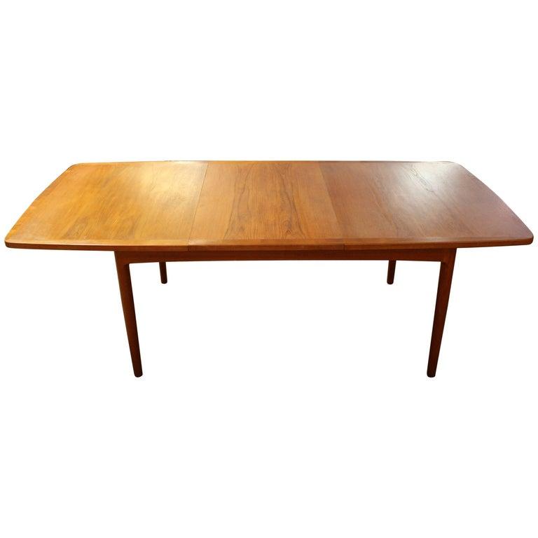 Master Width 768 Mid Century Modern Danish Teak Expandable Dining Table