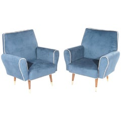 Pair of Mid-Century Modern Club Chairs