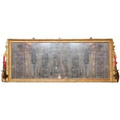 George III Giltwood over Mantel Mirror