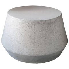 Cast Resin 'Tom' Cocktail Table, Natural Stone Finish by Zachary A. Design