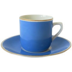 German Porcelain Blue and White Espresso Coffee Cup