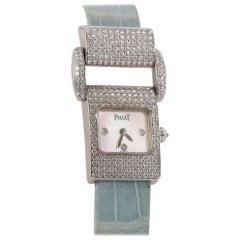 Piaget Ladies White Gold and Diamond Miss Protocole Wristwatch circa 2000