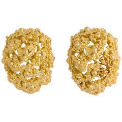 Boucheron Domed Gold Earrings