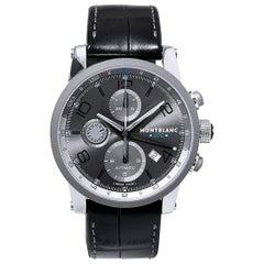 Mont Blanc Stainless Steel Time Walker UTC Self Winding Wristwatch