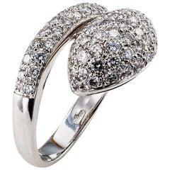 Diamond Pave White Gold Snake Ring