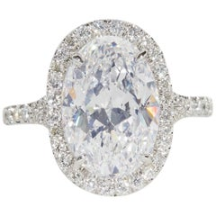 Oval Diamond Engagement Ring GIA Certified