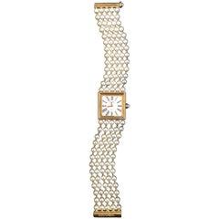 Chanel Akoya Pearl Yellow Gold Mademoiselle Watch