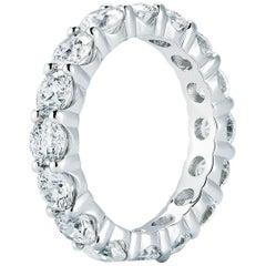 Diamond Eternity Ring in 18 Karat White Gold 4.61 Carat Total