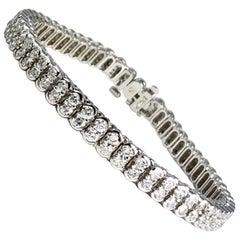 5.5 Carat Diamond Tennis Bracelet in 14 Karat White Gold