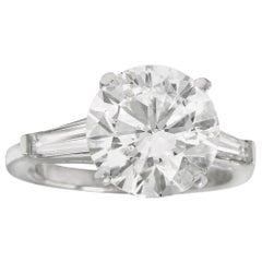 GIA Certified 9.01 Carat F SI1 Engagement Ring