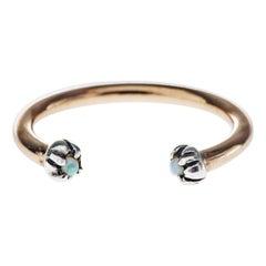 Opal Ring Silver Bronze Adjustable J Dauphin
