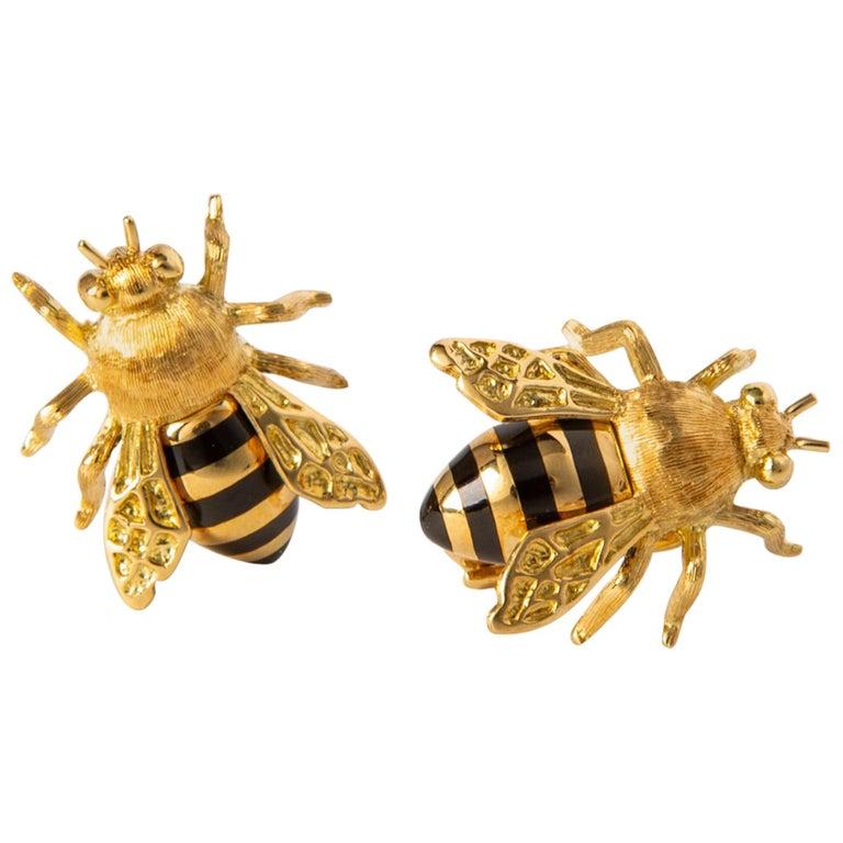 Verdura Honeybee Earrings For Sale
