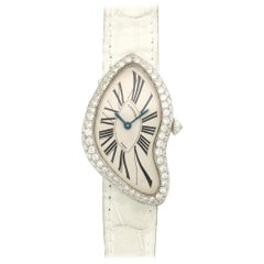 Cartier Platinum Crash Diamond Watch