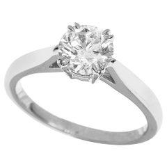 Harry Winston 0.73 Carat Diamond Platinum Solitaire Round Brilliant Ring
