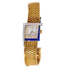 Rare Unique 1960s Vacheron Constantin Asymmetrical Sapphire Diamond Wristwatch