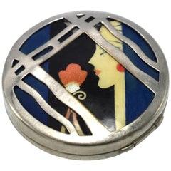 Karess 1920s Art Deco Ladies Powder Compact