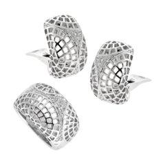 Cartier Nouvelle Vague Diamond White Gold Set