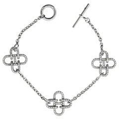 Hermes Rose de Mer Diamond Gold Bracelet