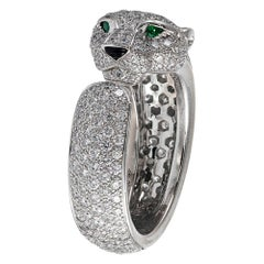 Cartier White Gold and Diamond Panthere Ring