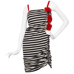 1990s Jean Paul Gaultier Sailor Stripe Dress