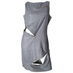 McQueen Grey Zipper Dress