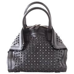 Alexander McQueen Bag Black on Black De Manta Tote Shoulder Strap