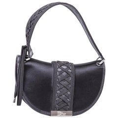 DIOR Bag in Black Silk Satin