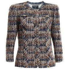 Chanel Metallic Multicolor Lesage Cropped Tweed Jacket Blazer