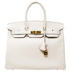 Hermes Birkin Bag 35cm Craie Togo GHW