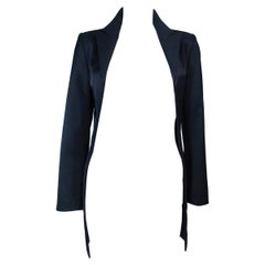 COMME DES GARCONS Navy Dramatic Pleated Blazer Size S