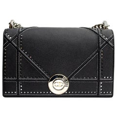 Dior Blue Leather Diorama Bag
