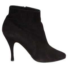 1990's AZZEDINE ALAIA black suede ankle boots