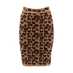 Alaia Leopard Print Knit Pencil Skirt, Fall-Winter 1991-1992