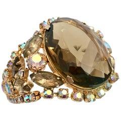 20th Century Gold & Austrian Crystal Juliana Style Bracelet