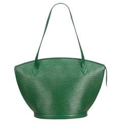Louis Vuitton Green Epi Saint Jacques GM Long Strap