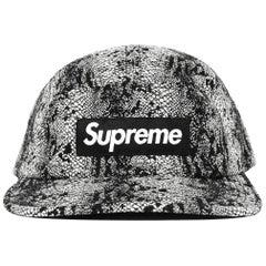 Supreme Black/White Snake Print Camp Cap Baseball Hat